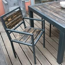 chaise en bois chaise design bois métal loftboutik