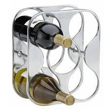 countertop 5 bottle wine rack
