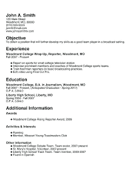 high student resume samples with no work experience