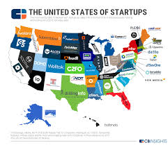 Where Is Alaska On A Map by The United States Of Startups The Most Well Funded Tech Startup
