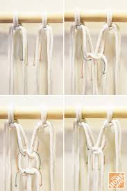 How To Make A Curtain Room Divider - how to macrame a room divider the home depot