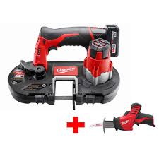 milwaukee m12 12 volt lithium ion cordless sub compact band saw xc