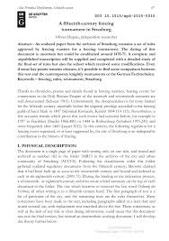 magistrat du si e d inition a fifteenth century fencing tournament in strasburg pdf