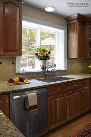 sill granite sink befon for granite countertops with matching window sill natural cherry cabinets