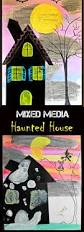 mixed media haunted house for halloween arts and crafts for kids