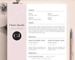 Resume Template Editable Resume Template Cv Template Editable In Ms Word And Pages