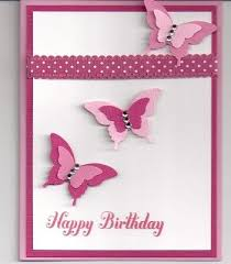 card invitation design ideas lot of 3 handmade pink butterfly
