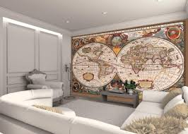 World Map Wall Decor by Living Room Globe Of Thr World Map Living Room Wall Murals With