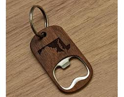 wooden key chain state engraved wooden key chain bottle opener the wood reserve