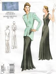 vogue pattern 2786 vintage gown and jacket from 1940 size 12 14 16