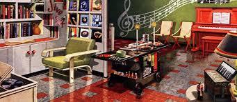 retro rooms retro rooms 12 themed vintage basement remodels 1948 click