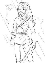 toon link coloring pages get coloring pages