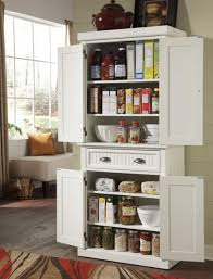 Free Standing Storage Cabinet Idea For Kitchen With Pantry Using White Free Standing Storage