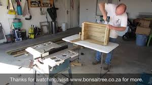 Building A Wood Desk by Building A Wooden Crate For Bonsai Trees Youtube