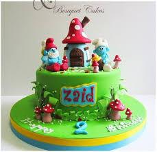 smurfs cake cake by ghada bouquet cakes cakesdecor