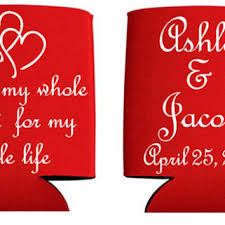 personalized wedding koozies shop custom wedding koozies on wanelo