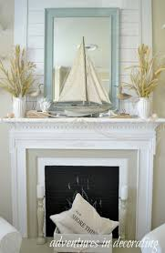 Seaside Home Interiors by Best 25 Beach Mantle Ideas On Pinterest Beach Style Fireplace