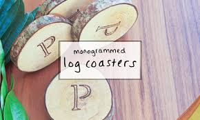 monogrammed wedding gift monogrammed log coasters a creative wedding gift idea sip bite