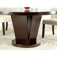 Espresso Dining Room Furniture by Furniture Of America Vessice Round Pedestal Dining Table