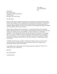 cover letter for teacher job letter idea 2018