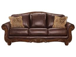 Distressed Leather Armchairs Living Room Ashley Sectional Sofa With Chaise Has One Of The