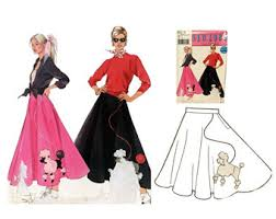 50s Halloween Costumes Poodle Skirts Poodle Skirt Costume Etsy