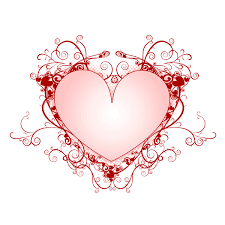 wedding invitation symbols wedding heart design clipart