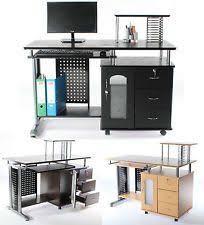 Charles Jacobs Computer Desk Office Desk With Shelf Computer Office Desk W Locking Cabinet