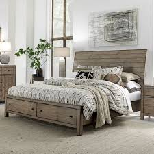 Cottage Platform Bed With Storage King Storage Beds With Drawers Humble Abode
