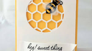 how to make a sweet honeycomb and bee card diy crafts tutorial