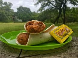 trailside pinto bean and cheese burrito