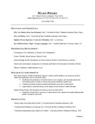 Gallery of Artist Resume Examples