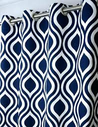 Navy Patterned Curtains White Curtains With Blue Pattern Navy Blue Patterned Curtains Navy