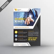 technical brochure template technology flyer template vector premium