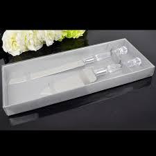 Wedding Cake Cutter Behokic 2pc Stainless Steel Blades Acrylic Handle Wedding Cake