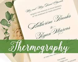 thermography wedding invitations invitation printing 101 thermography cat paperie custom