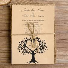 tree burlap layered rustic wedding invites ewls013 as low as