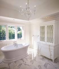 bathroom glass hutch transitional bathroom