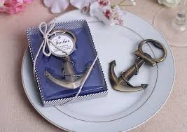 wedding giveaways wedding giveaways coppery anchor shaped chrome bottle opener in