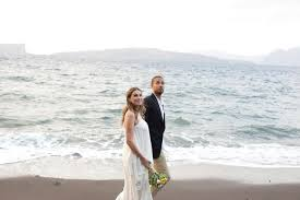 bohemian beach wedding in santorini tie the knot in santorini