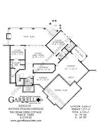 craftsman style floor plans cedar creek cottage house plan house plans by garrell associates