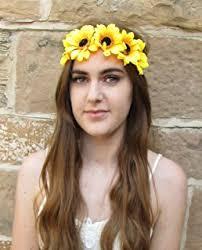 sunflower headband yellow sunflower hair garland crown headband festival co