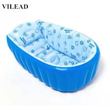 baby shower tub vilead 3 colors pvc portable baby shower tub large size