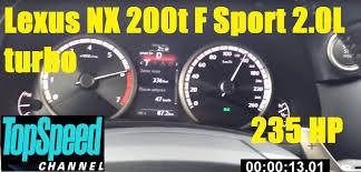 lexus nx engine lexus nx 200t f sport 2 0l turbo 235 hp 2015 acceleration 0 160 km