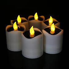 fake tea light candles 6 pcs solar led candles waterproof romantic electronic tealight