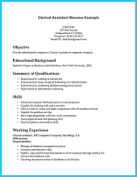 sample clerical assistant resume resume examples sample clerical