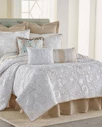 Gray Paisley Duvet Cover Exclusively Ours Modena Stitched Paisley Quilt Bedding