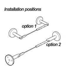 amazon com curtain wire rod set stainless steel multi purpose