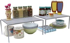 decobros expandable stackable kitchen cabi and counter shelf