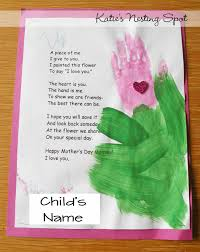 mothers day projects handprint flowers preschool starting